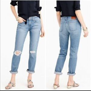 J. Crew Slim Broken In Boyfriend Jeans Distressed